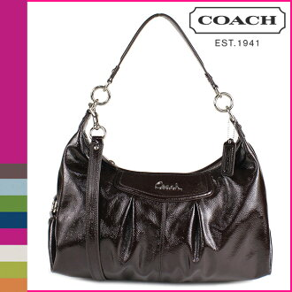 Coach COACH shoulder bag 2-way mahogany Ashley patent convertible Hobo ladies