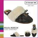 ●【 Father's Day 】 tomorrow comfortable coach COACH sandals [A0024] Chesnutt signature Cal RAS excellent M Wise lady's regular outlet / free shipping /