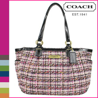 Coach COACH Tote multicolor galleries Tweed Womens