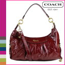 Free shipping coach COACH shoulder bag 2Way [F20452] crimson Ashley patent convertible Ho baud Lady's [5/11 reentry load] regular outlet [I will take my ease tomorrow]