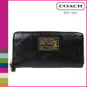 Coach COACH poppy POPPY long wallet [F48146] black Daisy liquid gross zip around lady's regular outlet free shipping tomorrow comfort [Father's Day]