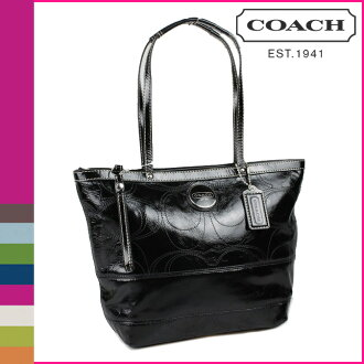 Coach COACH Tote Bag Black Patent Leather Womens
