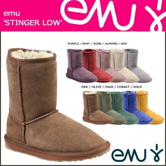 뮤 EMU 침 로우 부츠 W10002 STINGER LO 양모 여성용 남성용 부츠