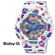 カシオ CASIO Baby-G 腕時計 BA-110FL-7AJF FLOWER LEOPARD SERIES ベビーG G-SHOCK ホワイト レディース あす楽
