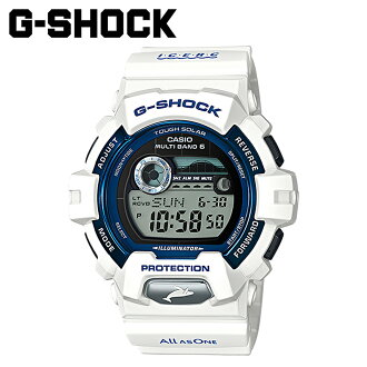 Casio g-shock CASIO watch EARTHWATCH G-LIDE dolphins whale mens Womens spring 2015 summer new GWX-8902K-7JR white unisex [6 / 26 new stock] [regular] ★ ★