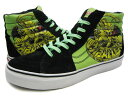 VANS×POWELL SK8HI LX (Cab 1 Lizard) Bright Lime Green/Black バンズ×パウエル スケートハイ キャバレロ