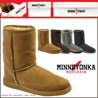 Minnetonka MINNETONKA short Sheepskin パグブーツ SHORT SHEEPSKIN PUG BOOTS Shearling boots Womens