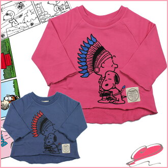 My sweetie MY SWEETY 7--length sweat [SNOOPY HUG SWEAT # ms11aw-ls01] 2 color cotton on kids' tops back hair pink Navy baby clothes & kids clothes
