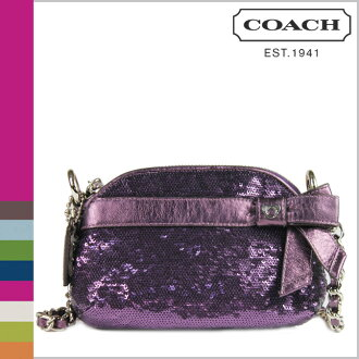 Coach COACH F46100 also shoulder bag poppy POPPY sequin mini gem Crossbody