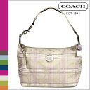 Coach COACH shoulder bag [F17209] multicolored signature stripe tartan lady's regular outlet free shipping tomorrow comfort [RCP] [繁 C]