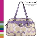 ●【 Father's Day 】 tomorrow comfortable coach COACH tote bag [F17481] khaki X パープルペネロピオプティックシグネチャーサッチェルレディース regular outlet / free shipping /