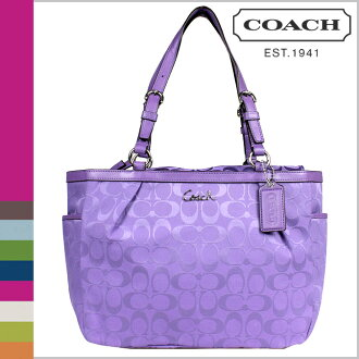 Coach COACH tote bag violet Gallery signature large E W zip Womens