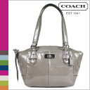 Coach COACH [gray] tote bag Chelsea patent Small handbag CHELSEA PATENT SMALL BAG GREY [F46262] regular outlet / free shipping / tomorrow comfort [Father's Day]