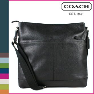 Coach COACH men's shoulder bag black Camden pebbled leather large zip-top cross-body