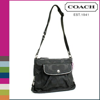 Coach F16550 COACH shoulder bag [Black] Daisy nylon signature regular outlet