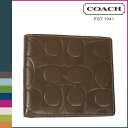 "Comfortable coach COACH men folio wallet [F74078] タバコシグネチャーエンボスドレザーダブルビルフォードウォレット regular outlet free shipping tomorrow; ""4/19 reentry load ]"" [Father's Day]"