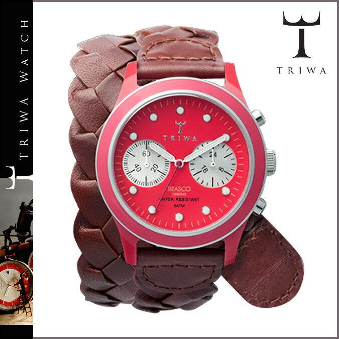 トリワ TRIWA 腕時計 ブラウン フクシア  DCAC 109 FUXY BRASCO CHRONO レザー  メンズ レディース [N50]  ポイント最大16倍 SPRING SALE 送料無料  トリワ ウォッチ TRIWA WATCH 腕時計 正規  通販カシオ 腕時計 レトロ