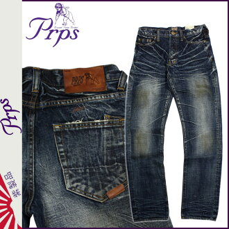 ピーアールピーエス PRPS vintage denim E63P54X BARRACUDA REGULAR FIT LOW FRONT RISE STRAIGHT LEG ARK ROYAL cotton men's 2013-new