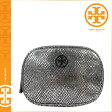 [SOLD OUT]送料無料 トリーバーチ TORY BURCH コスメポーチ [シルバー] 41119331 040 SMALL COSMETIC CASE レザー レディース SILVER [ 正規 あす楽 ]