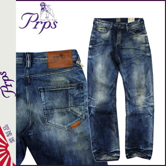 ピーアールピーエス PRPS vintage denim E63P98X BARRACUDA REGULAR FIT cotton men's 2013-new