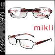 ミクリ mikli アランミクリ メガネ 眼鏡 ブラック レッド ML1040 0001 メタルフレーム alain mikli サングラス メンズ レディース