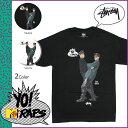 ポイント10倍 ステューシー STUSSY × YO MTV RAP 半袖 Tシャツ TEE [ ブラック ホワイト ] ティーシャツ コラボ メンズ [ 正規 あす楽 ]【バレンタイン】
