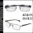 アランミクリ alain mikli メガネ 眼鏡 ホワイト ブラック メタルフレーム メンズ レディース