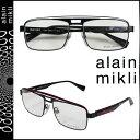 アランミクリ alain mikli メガネ 眼鏡 メタルフレーム AL1223-MOBE ブラック レッド メンズ レディース