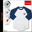 ダイヤモンド サプライ Diamond Supply Co 七分袖 Tシャツ ラグラン 3カラー 98 SUPPLY RAGLAN メンズ