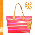 [SOLD OUT]送料無料 トリーバーチ TORY BURCH レディース トートバッグ 12139645 609 ポピーレッドマルチストライプ STACKED T EW TOTE [ 正規 あす楽 ]