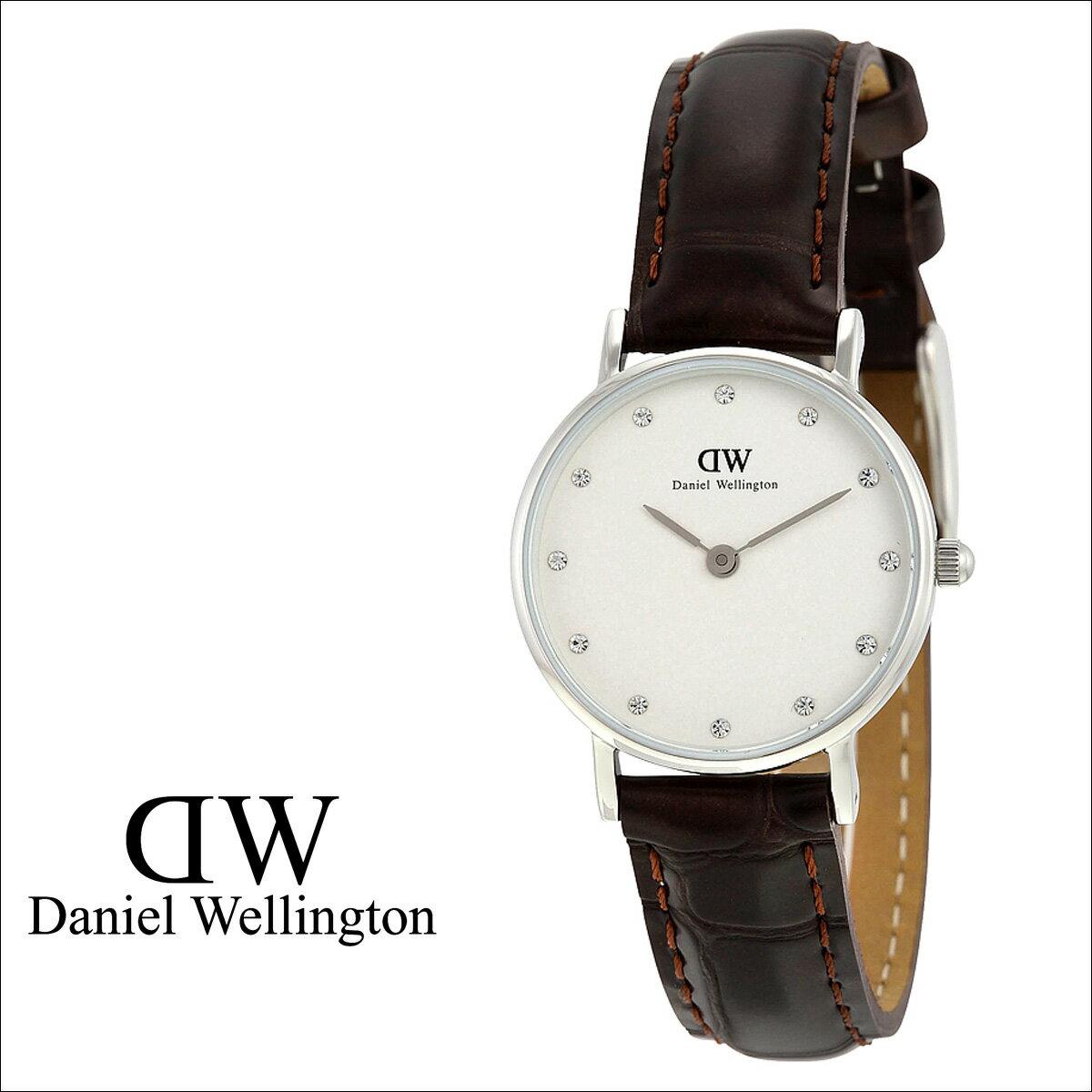 ダニエルウェリントン Daniel Wellington 26mm 腕時計 レディース  0922DW CLASSY YORK  シルバー レザー  送料無料  ダニエル ウェリントン Daniel Wellington 腕時計 26ミリ 正規  通販
