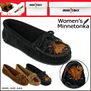 Mine Tonka MINNETONKA feather kiltie moccasins [ブラックブラウントープ] [460 462 467] FEATHER KILTY MOC suede Lady's BLACK BROWN TAUPE suede cloth [authorized comfort tomorrow] [Father's Day]