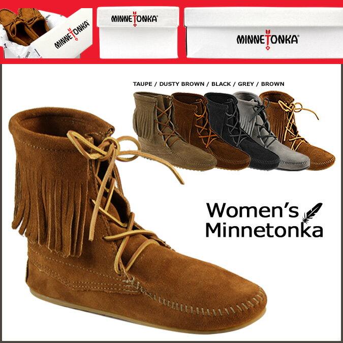 ミネトンカ MINNETONKA トランパー アンクル ブーツ FRINGE ANKLE …...:sugarltd:10186509