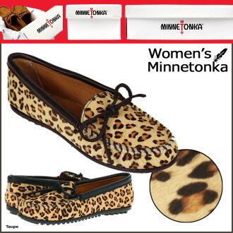 Minnetonka MINNETONKA フルレオパード suede moccasins FULL LEOPARD SUEDE MOC suede women's suede