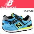 ニューバランス new balance 574 レディース スニーカー WL574WBB Bワイズ 靴 ブルー 【 母の日 】