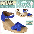 [SOLD OUT]TOMS SHOES トムズ シューズ レディース サンダル CROCHET WOMEN'S STRAPPY WEDGES トムス トムズシューズ