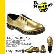 送料無料 ドクターマーチン Dr.Martens 1461 WOMENS 3ホール シューズ [ ゴールド ] R10084711 CORE パテント レディース メンズ エナメル [ 正規 あす楽 ]★★