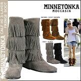 ミネトンカ MINNETONKA カーフ ハイ 3レイヤー ブーツ [ 4カラー ] CALF HI 3-LAYER FRINGE BOOTS スエード レディース 1631T
