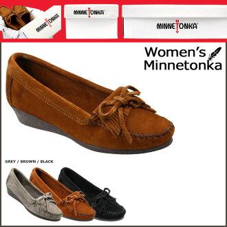 Point 2 x Minnetonka MINNETONKA women's moccasin Kirti wedge WEDGE MOCCASIN KILTY suede 411 412 419 3 colors suede [regular] P12Sep14