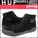 HUF ハフ スラッシャー スニーカー コラボ THRASHER CLASSIC HI VC47001 メンズ レディース 靴 ブラック