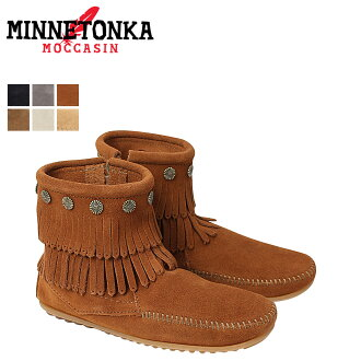 «Reservation products» «around the 10 / 11 stock» Minnetonka MINNETONKA double fringe side DOUBLE FRINGE SIDE ZIP BOOTS suede women's zip boots