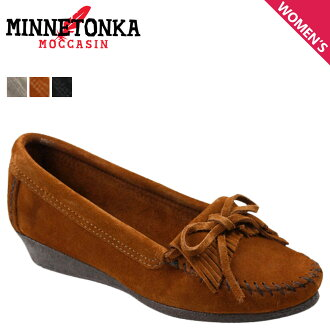 Point 2 x Minnetonka MINNETONKA women's moccasin Kirti wedge WEDGE MOCCASIN KILTY suede 411 412 419 3 colors suede [regular] P12Sep14