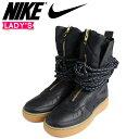 ショッピングエアフォース NIKE ナイキ エアフォース1 HI レディース スニーカー SPECIAL FIELD ARE FORCE 1 AA3965-001 SF AF1 靴 ブラック 黒