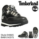 ティンバーランド Timberland ベビー キッズ EURO HIKER BOOT TD ブーツ ユーロ ハイカー 94865 ブラック [9000足] [N50]