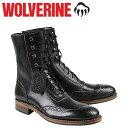 ウルヴァリン WOLVERINE 1000マイル ブーツ WINCHESTER 1000 MILE BROGUE BOOT Dワイズ W06492 ブラック ワークブーツ メンズ
