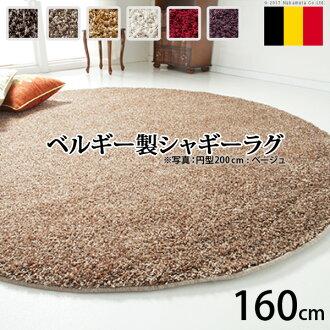 比利時由威爾頓編織毛茸茸的地毯烈日圓直徑 160 釐米地毯地毯地毯地毯地毯地毯耐髒地毯 160 比利時生產抗 Dani 抗菌 ragmat 圓生活奢華亞洲