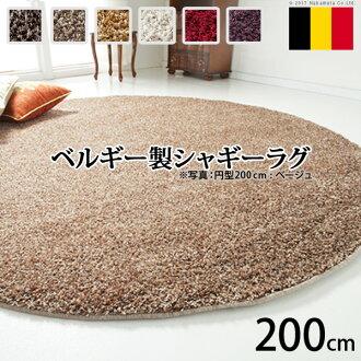 比利時由威爾頓編織毛茸茸的地毯烈日圓直徑 200 釐米地毯地毯地毯地毯地毯地毯耐髒地毯 200 比利時生產抗 Dani 抗菌 ragmat 圓生活奢華亞洲