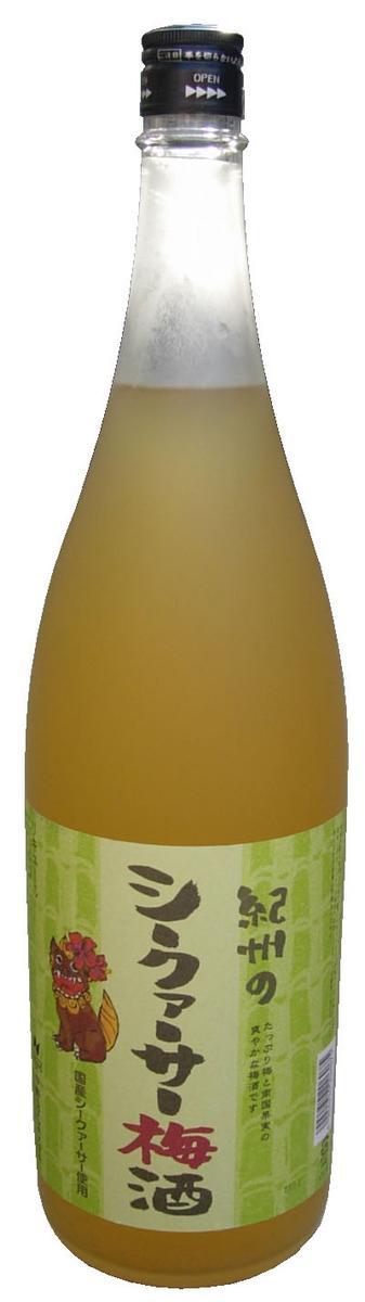 紀州のシークワサー梅酒 1.8Lの商品画像