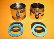LIXIL、INAX 水栓部品、壁付け混合栓用変換アダプター、2個入り(TOTOの一部用変換アダプター、G3/4×W28山18)