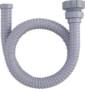 流し台接続部品、ネジ式排水ホース(40・50ミリ兼用、長さ1.5m)